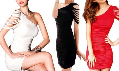 Vestido de cóctel ajustado para mujer