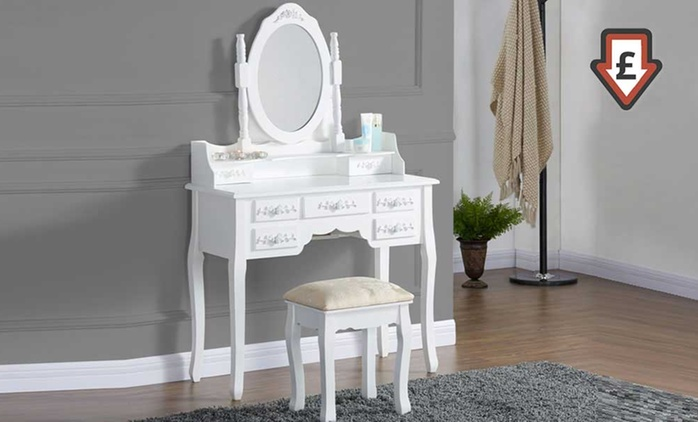 Antique-Style Dressing Table Sets in a Choice of Three Designs from £89.99 With Free Delivery