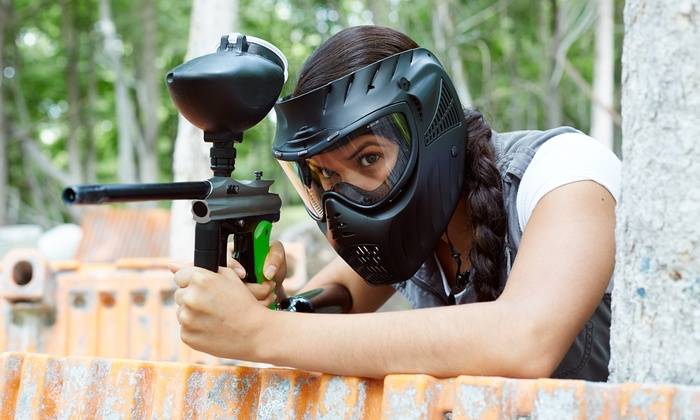 CPX Sports - Joliet: 50 Caliber Open-Play Paintball Package for Two, Four, or Eight at CPX Sports (Up to 74% Off)