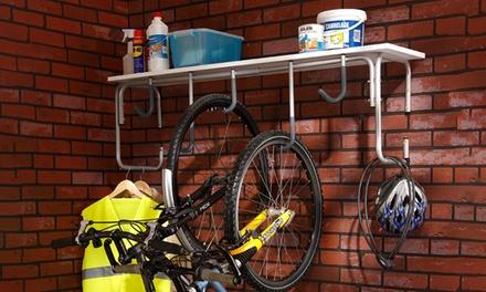 Range 5 vélos mural Mottez, armature en acier pour un gain de place