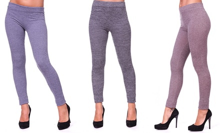 3-Pack of Seamless, Fleece-Lined Leggings