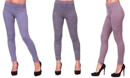3-Pack of Seamless, Fleece-Lined Leggings