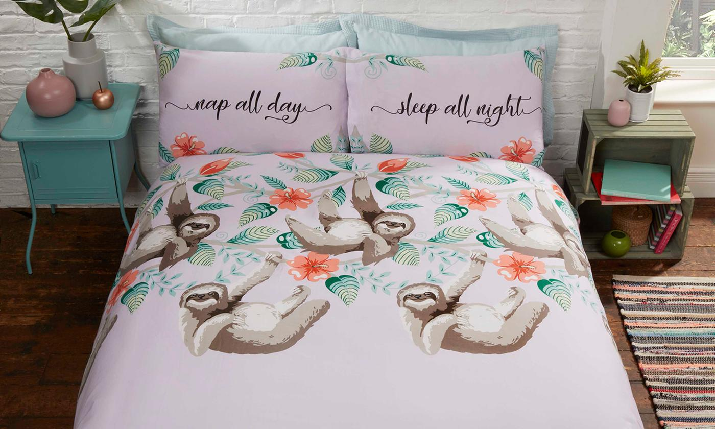 Rapport Home Sloth Easy Care Duvet Set