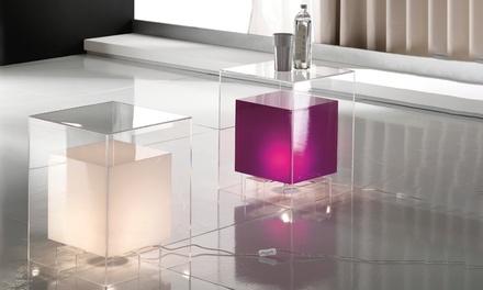 Pouff/tavolino luminoso