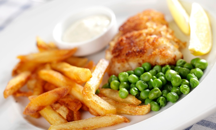 The Cock & Bull Pub and Restaurant - Seabrook: Fish and Chips for Two or Four at The Cock & Bull Pub and Restaurant (36% Off)