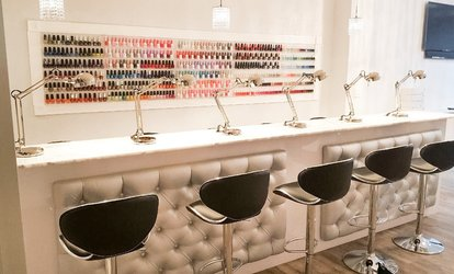 image for Gel Manicure, Regular Mani-Pedi, or Gel Manicure and Regular Pedicure at The Nail Bar (Up to 43% Off)