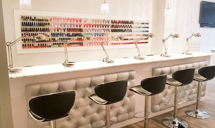 Regular Mani-Pedi or Gel Manicure with Regular Pedicure at The Nail Bar (Up to 33% Off)