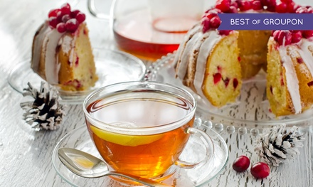 Festive Afternoon Tea with Mulled Wine or Bubbly for Two or Four at The Colonnade