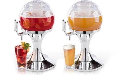 Spillatore di birra trasparente da 3,5 L con contenitore per ghiaccio