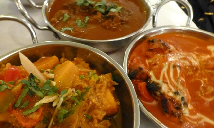 SixCourse Indian Banquet with Wine for Two $39, Four $69 or Six People $99 at Tandoori Daawat Up to $246 Value