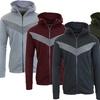 Men's Full-Zip Slim Fit Tech Fleece Color Block Hoodie