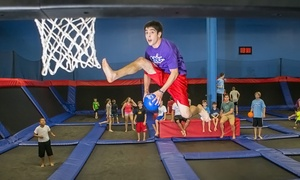 Helium Trampoline Park: Open Jump for 2 or 4, or Party for 15 at Helium Trampoline Park (Up to 50% Off). Five options Available.