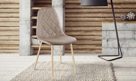 4 o 6 sillas escandinavas tapizadas disponibles en 3 colores