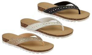 (Mode)  Sandales à strass Paradise