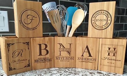 One or Two Personalized Kitchen Utensil Holders from American Laser Crafts (Up to 41% Off)