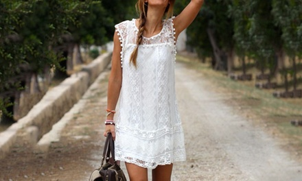 Sleeveless Lace Summer Dress for £9.98