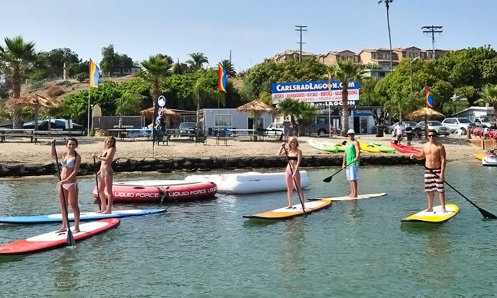 Carlsbad Lagoon - Carlsbad: $25 for a Two-Hour Kayak, Canoe, Standup-Paddleboard, or Aqua-Cycle Rental from Carlsbad Lagoon (Up to $50 Value)
