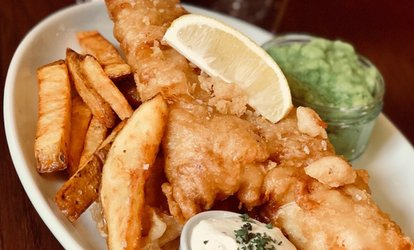 image for Beer-Battered Cod and Chips for Two at The Spotted Dog (50% Off)
