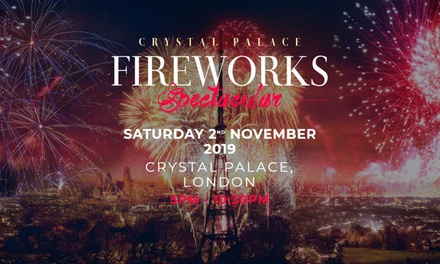 Crystal Palace Fireworks Spectacular 2019, 2 November at Crystal Palace Park