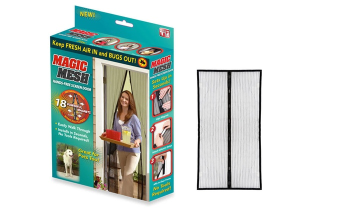 Save 75% on Magic Mesh Hands-Free Magnetic Net Screen Door (1- or 2-Pack)
