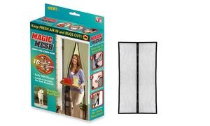 Magic Mesh Hands-Free Magnetic Net Screen Door (1- or 2-Pack)