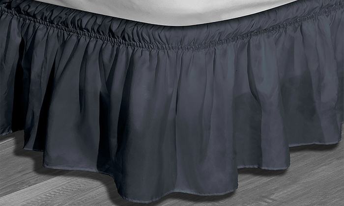 waldorf wrap around elastic bed ruffle bedskirt waldorf wrap around elastic bed ruffle bedskirt