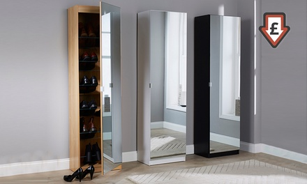 Five-Feet Mirrored Shoe Cabinet for £79.99 With Free Delivery (Up to 56% Off)