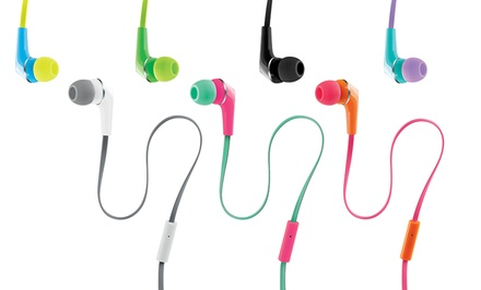 2-Pack of Urban Beatz Earbuds with Mic and Remote. Multiple Colors. Free Returns.