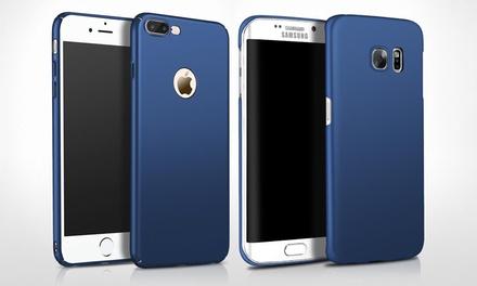 1 ou 2 étuis en PC ultra mince pour iPhone et Samsung, bleu ou noir