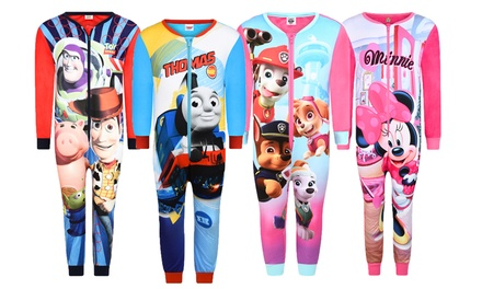 Kids' Character Full Length Soft Touch Onesies for £5.99