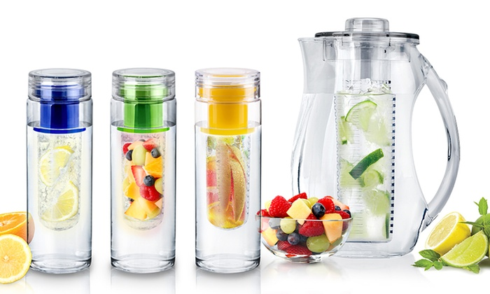 Temporary Price Cut InFuzeH20 Fruit-Infuser Water Bottles and Pitcher