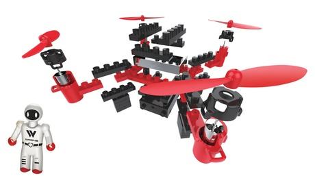 IR Drone DIY Brick Drone with Figure