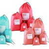 8-Piece Drawstring Travel Bags Set