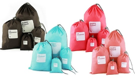 Eight Piece Drawstring Travel Bags Set from AED 49
