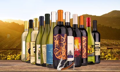 image for $59 for a 12-Bottle Sampler of Award-Winning California <strong>Wines</strong> from A Taste of California ($205.87 Value)