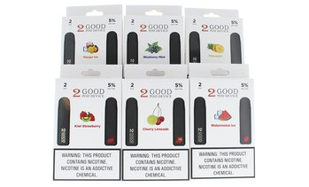 Disposable 5% Nicotine Vape Pen 2-Pack Flavors from 2 Good