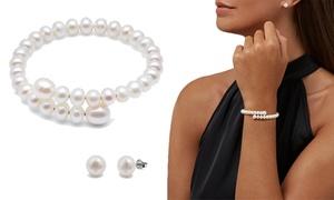 Parure bijoux Argent et Perle