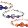 Solid Stainless Steel Genuine Chakra Bracelet by Pink Box