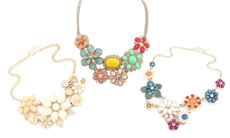 1 o 3 collares decorados con cristales de Swarovski®