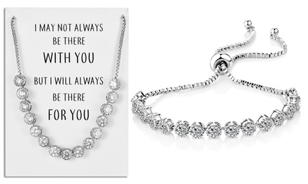 One or Two Philip Jones Crystal Friendship Bracelets with Quote Card