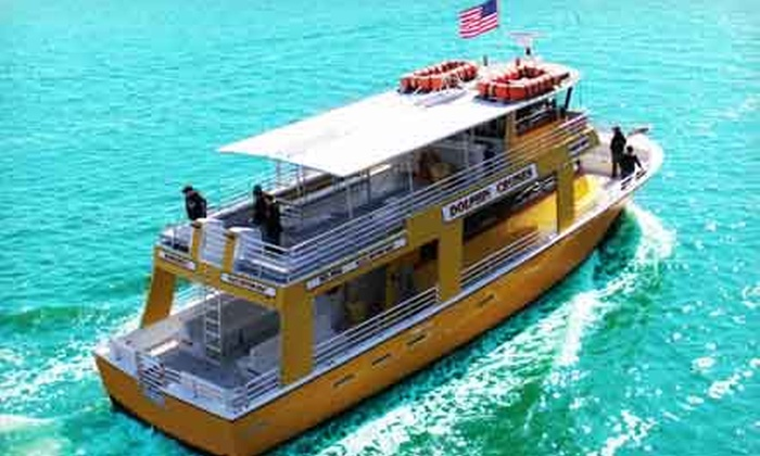 The Sunny Lady Dolphin Cruise at The Wharf - Orange Beach: Dolphin-Watching Cruise from The Miss Florida Dolphin Cruise at The Wharf (Up to 55% Off). Three Options Available.