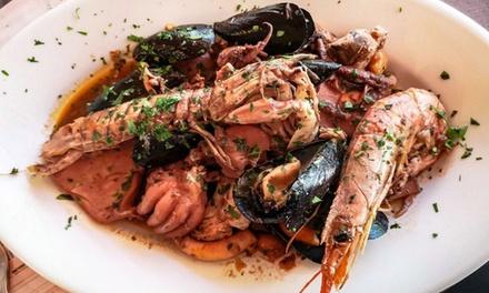 Menu di mare con vino e dolce a 32,90€euro