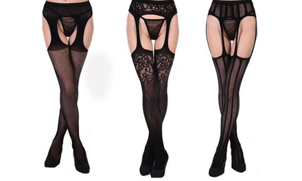 One, Two or Three Pairs of Garter BeltEffect Tights