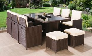 9-Pc. Rattan Garden Furniture Set