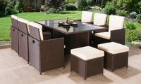 9-Piece Rattan Garden Furniture Set
