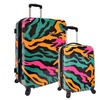 Traveler's Choice 2-Piece Colorful Camo Hardside Luggage Set