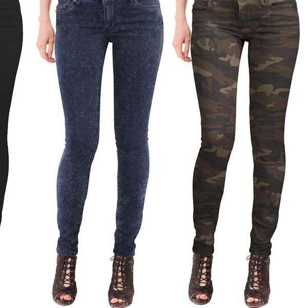1c22d9a5e4 Hybrid & Company Women's Super Comfy Stretch Bum-Lift Jeans | Groupon