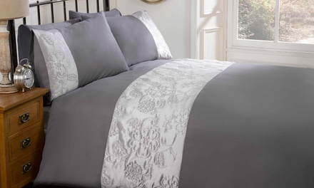 Rapport Home Embroidered Duvet Cover Set in Choice of Size and Design