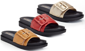 Berkin Women's Slip-On Sandals with Belt Buckle Design at Berkin Women's Slip-On Sandals with Belt Buckle Design, plus 6.0% Cash Back from Ebates.