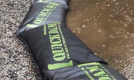 Quick Dam Expanding Flood Barriers and Bags—Assorted Sizes